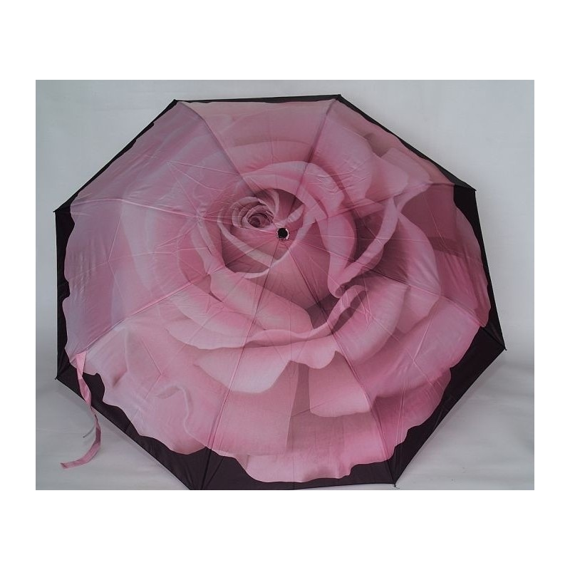 Parasol Galleria różowa róża wytworna Made in USA