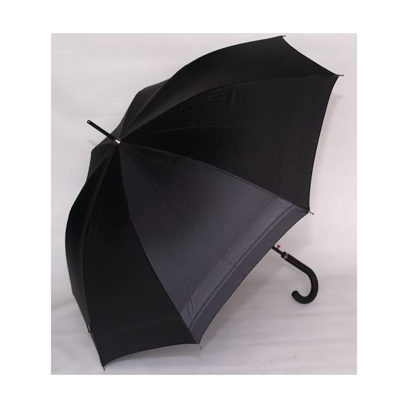 Parasol Knirps  AC laska czarny z czarnym szlakiem