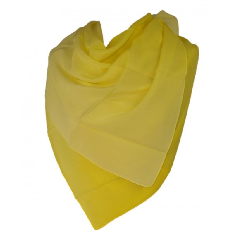 Milanówek Chusta jedwabna cieniowana żółta cytryna