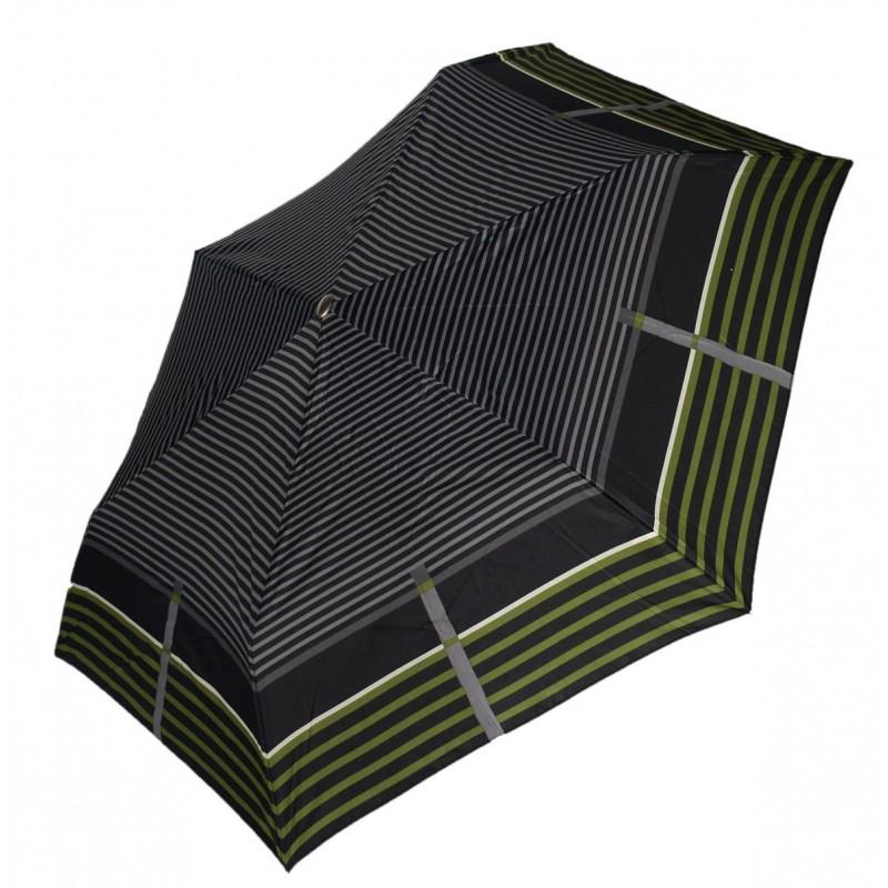 Parasol Doppler Slim lekki płaski zielone pasy