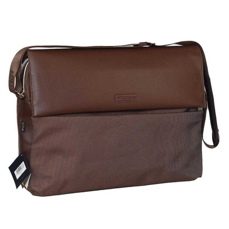 ec5557d034be9 Wittchen torba na laptopa 15,6 cala brąz z klapą id 4797 - FK Subiekt