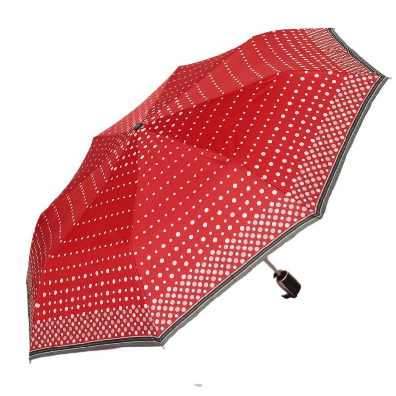 Doppler Fiber parasol czerwony w białe groszki UV