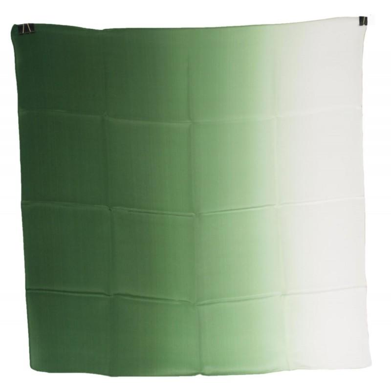 Milanówek jedwabna apaszka zielona cieniowana