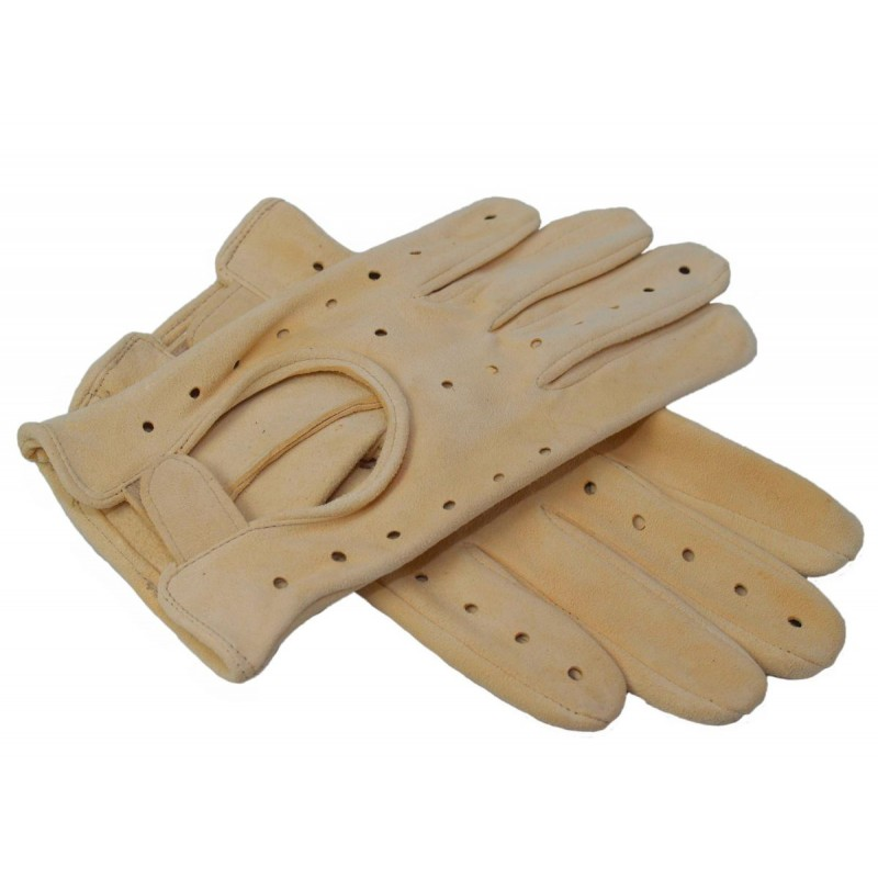 Rękawiczki męskie z sarniej skóry jelonki jasne L