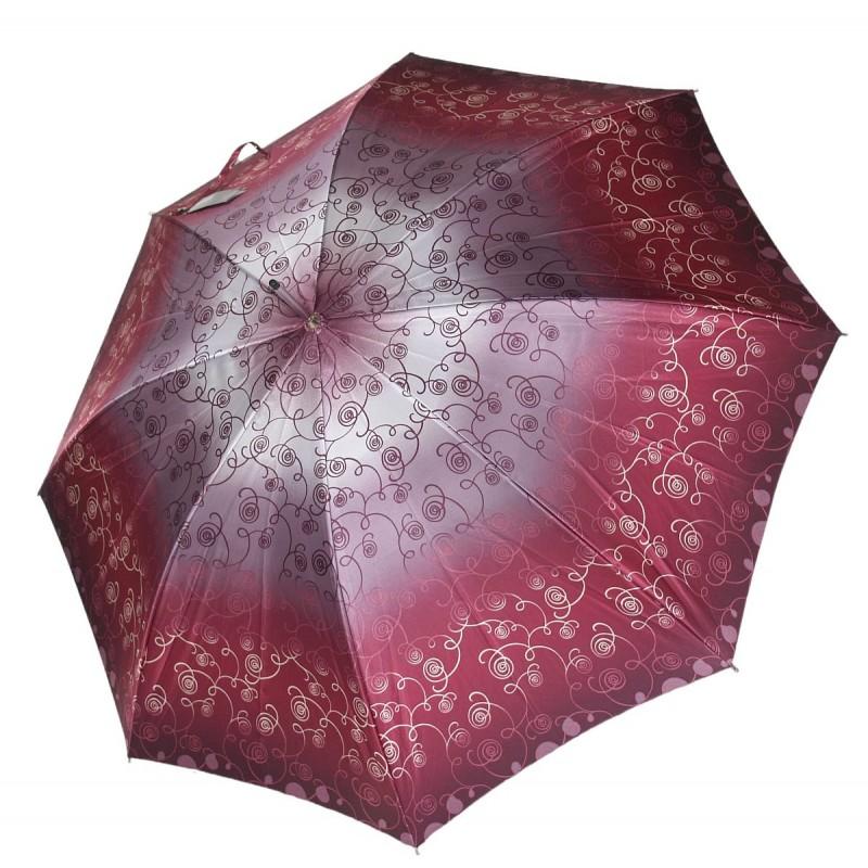 Parasol Doppler bordo i wrzos pnącza satynowe .