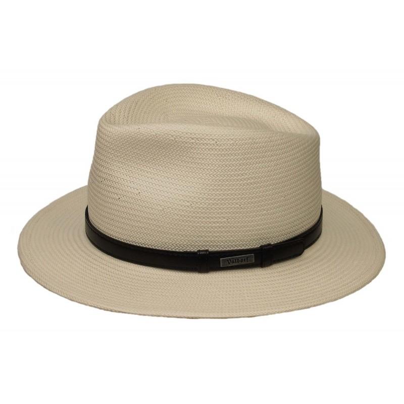 Kapelusz słomkowy męski Panama 56 jasny fedora